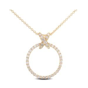 18KT 0.79 CT Diamond Round Shape Pendant With Chain