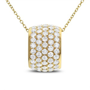 18KT 2.44 CT Diamond Pendant With Chain