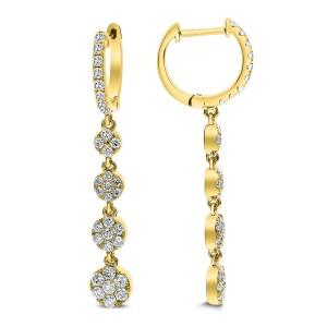 18KT 1.23 CT Diamond Drop Earrings