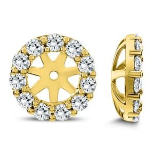 18KT 0.70 CT Diamond Round Stud Earrings