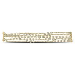 18KT 14.80 CT Diamond Lined Bracelet