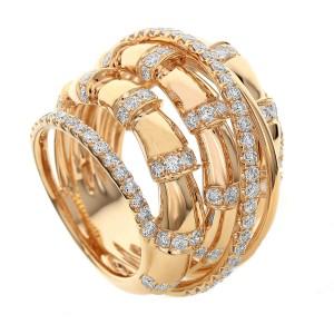 18KT 2.45 CT Diamond Multi-Layer Twist Ring