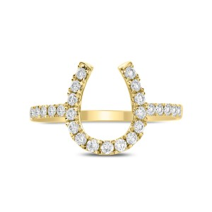 18KT 0.40 CT Diamond Horseshoe Ring