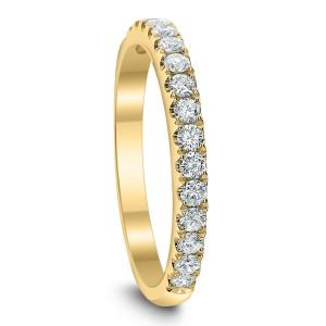 18KT 0.42 CT Diamond Round Shaped Band
