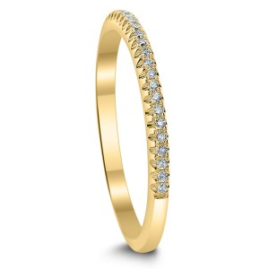 18KT 0.10 CT Diamond Band
