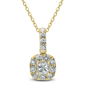 18KT 1.03 CT DiamondSquare Pendant