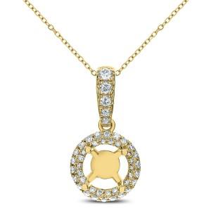 18KT 0.28 CT Diamond Round Shape Pendant