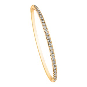 18KT 1.99 CT Diamond Bangle