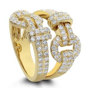 18KT 1.55 CT Belt Shaped Diamond Ring