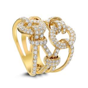 18KT 2.00 CT Belt Shaped Diamond Ring