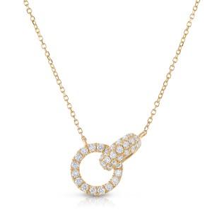 18KT 0.43 CT Diamond Pendant With Chain