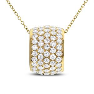 18KT 2.44 CT Diamond Pendant With Chain