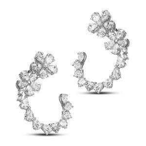 Luxury 18KT 7.66 CT Diamond Earrings