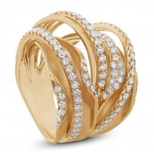 18KT 1.52 CT Multi Row Diamond Ring
