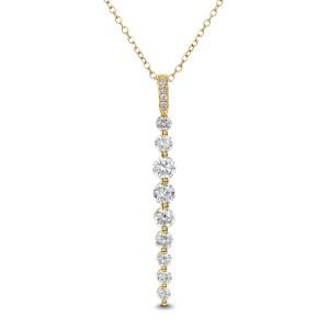 18KT 0.65 CT Diamond Pendant With Chain