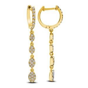 18KT 0.76 CT Diamond Drop Earrings