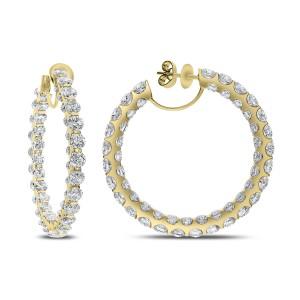 18KT 14.75 CT Diamond Hoop Earring