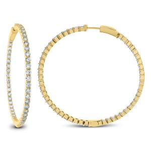 18KT 7.00 CT Diamond Hoop Earrings