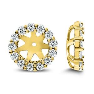 18KT 0.78 CT Diamond Round Earrings