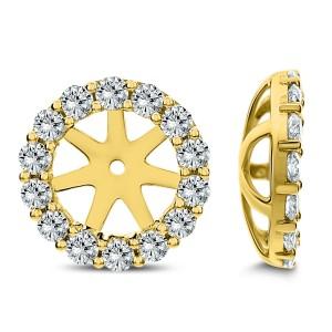18KT 0.95 CT Diamond Round Stud Earrings