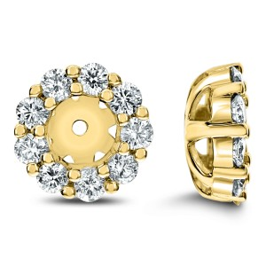 18KT 0.54 CT Diamond Round Shape Earrings