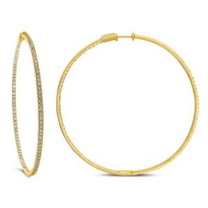 18KT 2.71 CT Diamond Round Shape Earrings