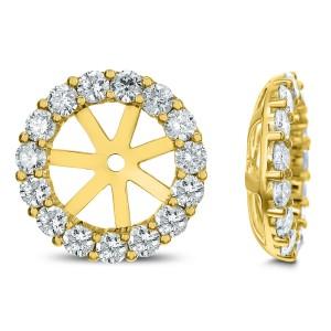 18KT 1.41 CT Diamond Round Shape Stud Earrings