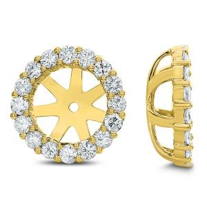18KT 1.75 CT Diamond Round Stud Earrings