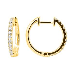14KT 0.30 CT Diamond Hoop Earrings