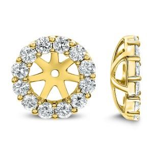 18KT 1.10 CT Diamond Round Stud Earrings