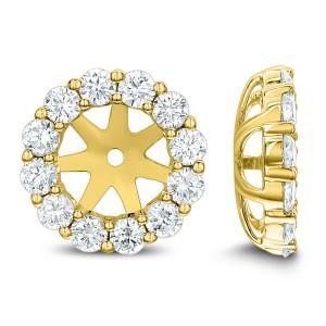 18KT 1.11 CT Diamond Round Stud Earrings