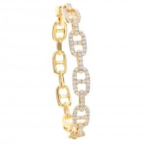 18KT 3.00 CT Diamond Interlocking Bracelet