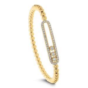 18KT 0.80 CT Diamond Half-Open Shape Bracelet