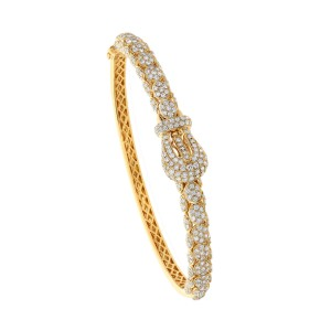 18KT 2.20 CT Diamond Round Shape Bracelet