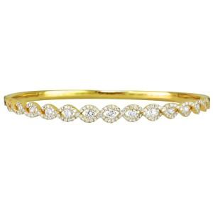 18KT 1.63 CT Diamond Twist Bangle