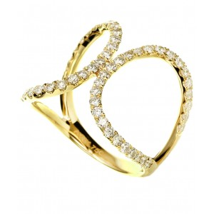 18KT 0.90 CT Diamond Double Oval Ring