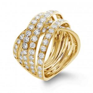 18KT 2.75 CT Diamond Multi-Layer Ring