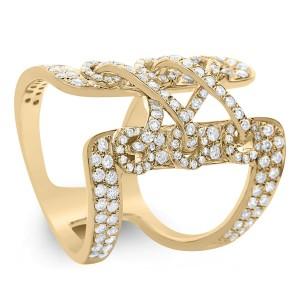 18KT 1.55 CT Diamond Knot Shape Ring