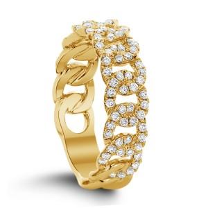 18KT 0.60 CT Diamond Interlocking Ring