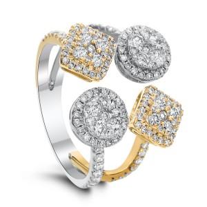 18KT 1.15 CT Diamond Multi-shaped Ring