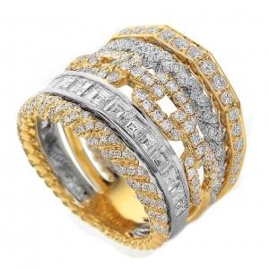 18KT 1.38 CT Diamond Multi-Design Ring