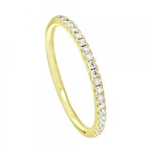 18KT 0.19 CT Diamond Ring