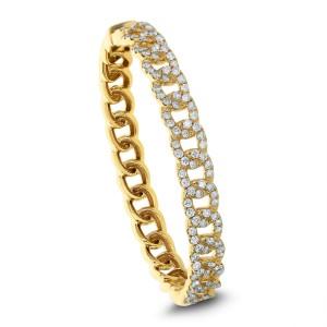 18KT 2.79 CT Diamond Link Bangle