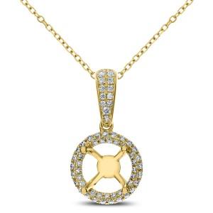 18KT 0.30 CT Diamond Round Shape Pendant