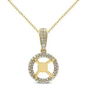 18KT 0.33 CT Diamond Round Shaped Pendant