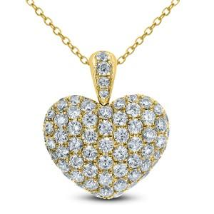 18KT 1.75 CT Diamond Heart Shape Pendant