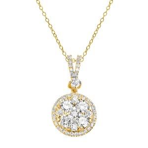 18KT 1.14 CT Diamond Round Shape Pendant