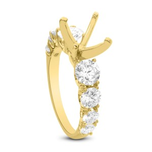 18KT 2.08 CT Diamond Semi-Mounting Solitaire Ring