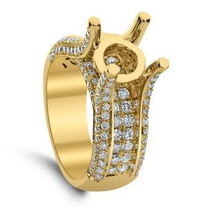 18KT 1.20 CT Diamond Semi Mount Ring